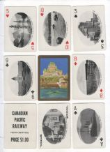 Antique souvenir playing cards. Canadian Pacific Railway  1910c.